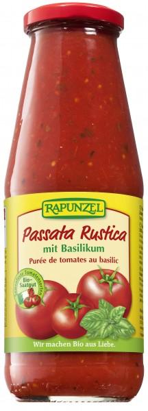 Passata Rustica mit Basilikum